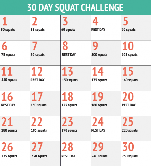 30 Day Squat Challenge Was Bringt Sie Wirklich Go Fit Girl